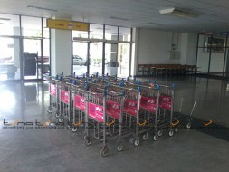 Baggage Trolley Muang Thai Life Insurance @NAKHON RATCHASIMA AIRPORT
