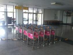 Baggage Trolley Muang Thai Life Insurance @NAKHON RATCHASIMA AIRPORT