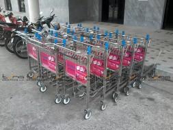 Baggage Trolley Muang Thai Life Insurance @ROI ET AIRPORT