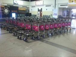Baggage Trolley Muang Thai Life Insurance @UBONRATCHATHANI AIRPORT