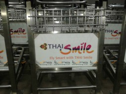 *NEW*BAGGAGE TROLLEY THAI SMILE @Udonthani Airport