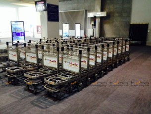 *NEW*BAGGAGE TROLLEY THAI SMILE @Krabi Airport