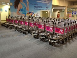 Baggage Trolley Muang Thai Life Insurance @Krabi Airport