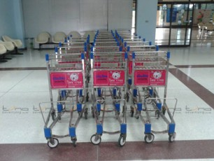 Baggage Trolley Muang Thai Life Insurance @Buriram Airport