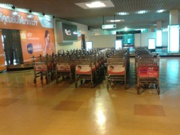 Baggage Trolley Muang Thai Life Insurance @Khonkaen Airport