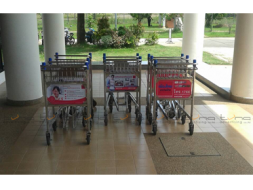 Baggage Trolley Muang Thai Life Insurance @Nakhon  Phanom Airport