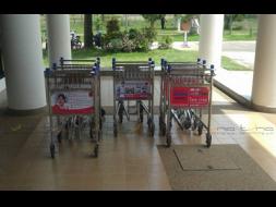 Baggage Trolley Muang Thai Life Insurance @Nakhon  Phanom Airport