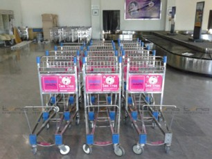 Baggage Trolley Muang Thai Life Insurance @Roi Et Airport